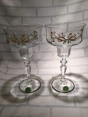 Johnson Brothers Eternal Beau Pair of Glass Candlestick Holders