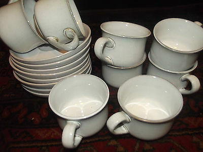 denby medici cups and saucers x 4