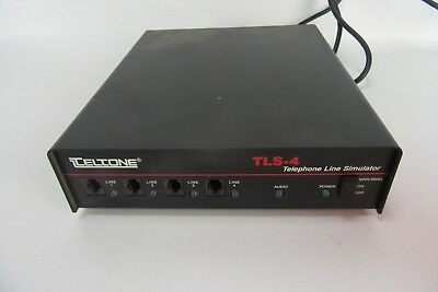 Teltone TLS-4 Telephone Line Simulator With Power Cord WORKS