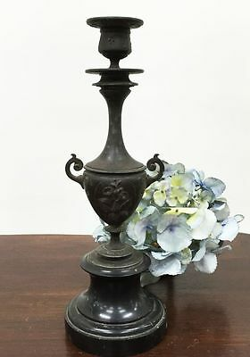 Antique French Candlelabra Bronze Candle Holder Christmas- NI167b