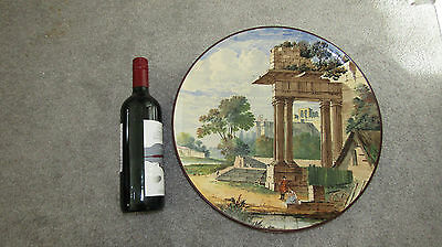 Huge MINTON Charger Painting Ruins dated 1875 £1100 RARE Antique Victorian