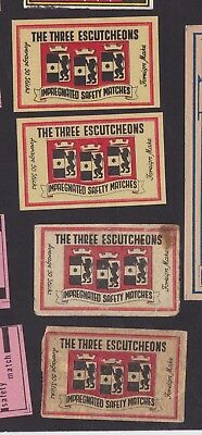 Anciennes  étiquettes  allumettes Italie BN33633 The Three Escutcheons  Ecusson
