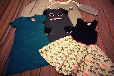 Bundle of girls dresses & jumper  age 10 -11 Next, M & S and H & M some new tags