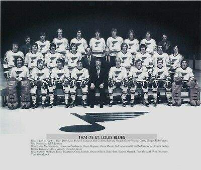 1974-75 St. Louis Blues Team 8X10 Photo Hockey Picture Nhl