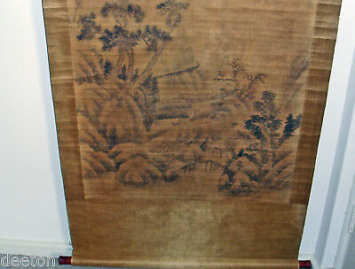 Chinese Japanese Hanging Art Scrolls Meiji Period / Wood Block Print Original E