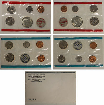 1970 US Mint Set with 40% Silver Kennedy half dollar (OGP) 10 coins