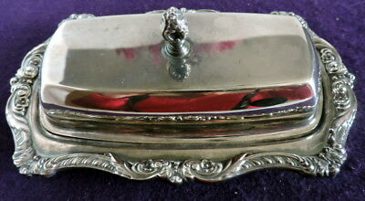 Epc Old English by Poole 5011 Silver Plated Butter Dish w/Lid & Insert  37