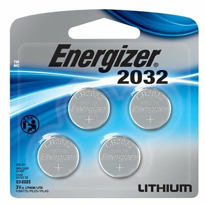Energizer CR 2032 Lithium Coin 3V Batteries 4-Pack 2032BP-4 Exp: 2025