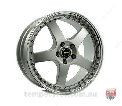 HOLDEN VECTRA WHEELS PACKAGE: 19x8.5 19x9.5 Simmons FR-1 Silver and Kumho Tyres