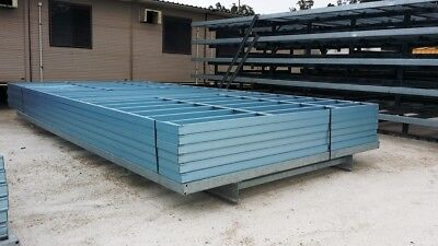6.3m x 3.3m Gal Building Chassis - 6 Steel Frames - Selling 'As Is' - NO RESERVE