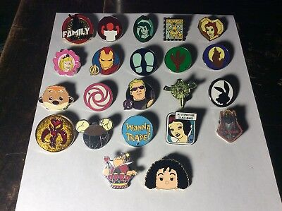Disney Pin Trading Lot of 22 Assorted Pins - Brand NEW - No Doubles - Tradable