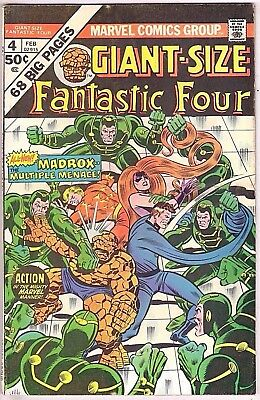 Giant-Size Fantastic Four#4 Vg-Fn 1975 Marvel Bronze Age Comics