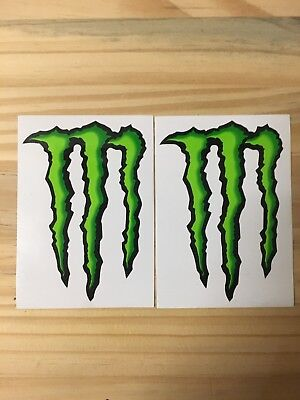 Lot Of 2 Monster Energy Drink Skateboard Stickers Decals