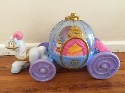 Fisher Price Little People Princess Cinderella Coach Musical Carriage Rare!!