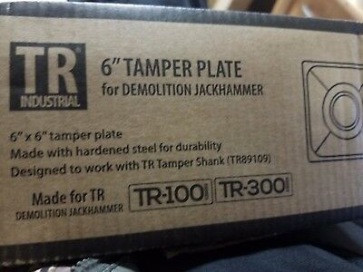 """6"""" Tamper  Plate for TR Industrial TR-100 and TR-300 Jackhammers"""