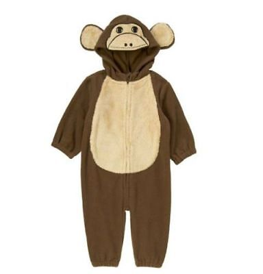 CRAZY 8 by GYMBOREE Boys Size 12-18 Months Monkey Hooded One Piece Costume NWT