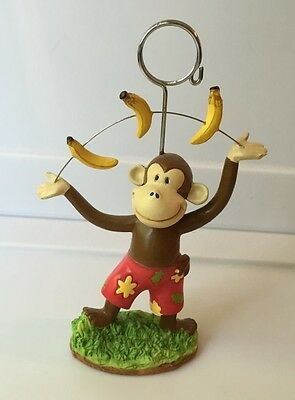 "CURIOUS GEORGE Photo CLIP Picture / Note HOLDER Frame JUGGING Figurine 5"" Tall"