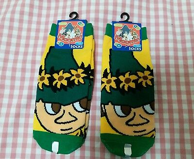 Moomin Valley Character Snufkin Short Sock One Pair 22-24cm Green