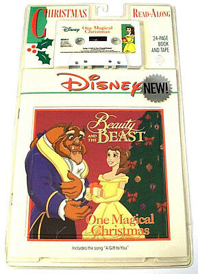 Beauty Beast One Magical Christmas Disney 24 Page Read-Along Book Cassette Tape