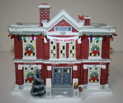 MINT! Department 56 A CHRISTMAS STORY Village Cleveland Elementary School w/ Box
