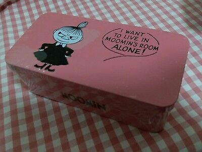 Moomin Characters Moomin Little My Metal box Container Pink