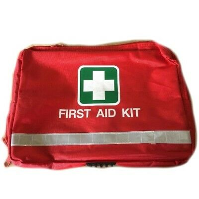 First Aid Kit Bag Only Red Medic Emergency Trauma Survival Camping