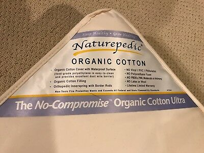 Naturepedic Organic Cotton Ultra 252 Baby Crib Mattress NEW