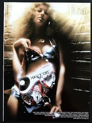 2004 Vintage Print Ad CHRISTIAN DIOR Bikini Sexy Woman Image Photo Hardcore