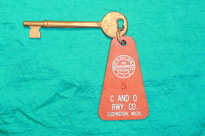 Stateroom Key from Arthur K. Atkinson Car Ferry Ship - Lake Michigan C & O RR