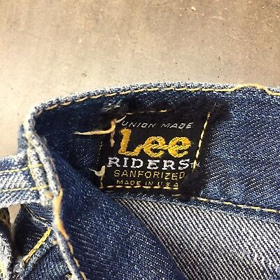 Vintage 1960's Lee Riders Button-Front Denim Jeans - Full Selvedge-  W33 L28