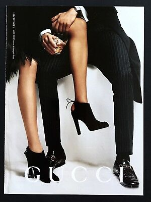 2004 Vintage Print Ad GUCCI High Heel Shoes  Fashion Image Cocktail