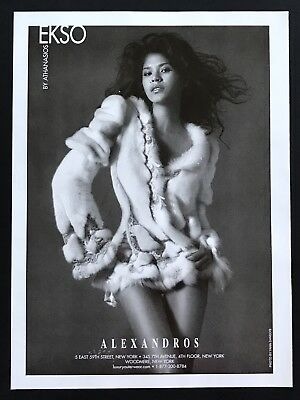 2004 Vintage Print Ad ALEXANDROS Woman's Fashion Sexy Image Photo Art