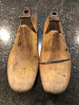 Pair Of Vintage Wooden Shoe Form