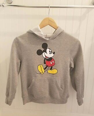 DISNEY **Mickey Mouse*Gray KIDS Size M/8 Hooded Pull-over Sweatshirt
