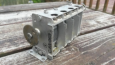 WW2  BC-348 receiver Tuning Variable Capacitor Unit