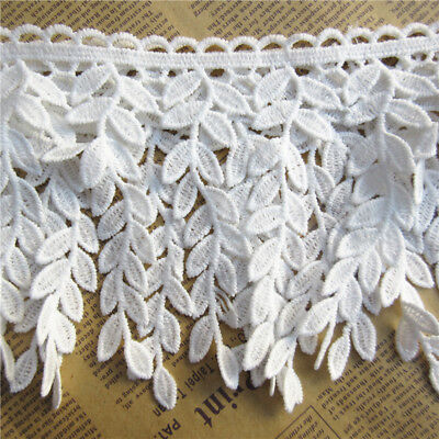 1yard Leaf Cotton Crochet Lace Trim Ribbon Embroidered Applique DIY Sewing Craft