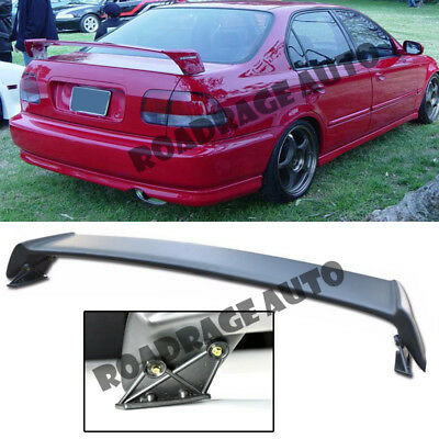 Exterior Accessories Extreme Online Store for 1996-2000 Honda Civic 2Dr Coupe EOS Mugen Style JDM ABS Plastic Primer Black Rear Trunk Lid Wing Spoiler Spoilers