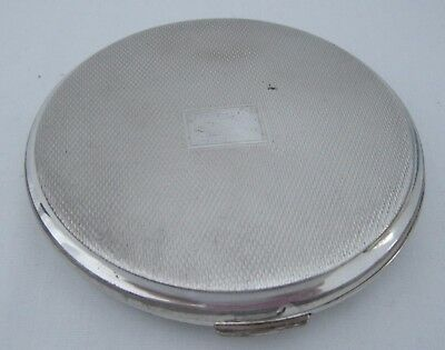 "*Art Deco Era or ""Style"" Full English Hallmarked Sterling Silver Powder Compact!"
