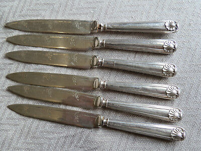 silver set of six knives english hallmarked