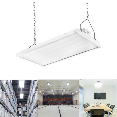 2' LED Linear High Bay Shop Light Fixture 110W 14410lm 5000K Dimmable Commercial