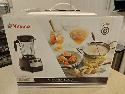 Vitamix 5300 Low Profile Blender with Cookbook NEW SEALED UNOPENED Black
