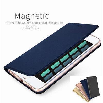 Magnetic Luxury Leather Card Wallet Flip Case Cover for iPhone X 8 7 6S Plus 5S