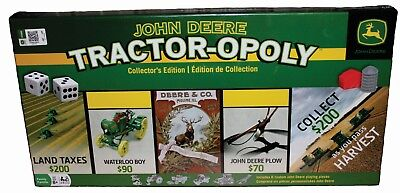 New in Box Sealed John Deere Tractoropoly Game Monopoly Metal Tractor Farm Game