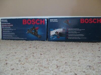 (2) Bosch MS1221 Horizontal Quick Clamp for Bosch 4412, 1212, 4410. NEW IN BOX
