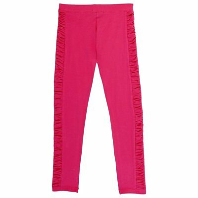 French Toast Little Girls' Legging with Ruched Side Panel Fuchsia Pink Size 4