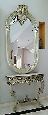 Large antique ornate mirror / Angel / vintage / massive ! Must see ! Home deco