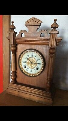 Ansonia Cottage Gingerbread Mantle Clock 1880's
