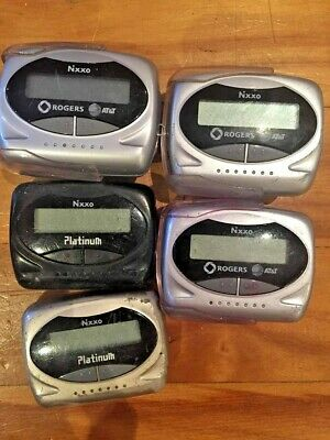 Lot 5X Nixxo Pagers Platinum Paget Page Vintage Beeper Wholesale Silver Black