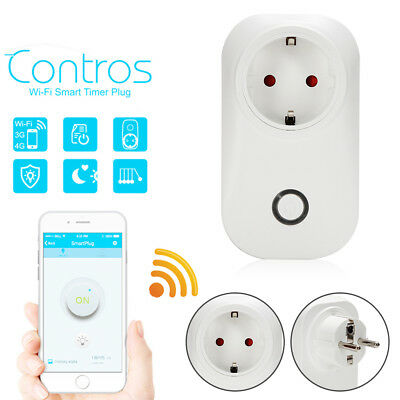 Durable S20 Phone Wifi Wireless Remote Control Smart Home Power Socket EU  nw