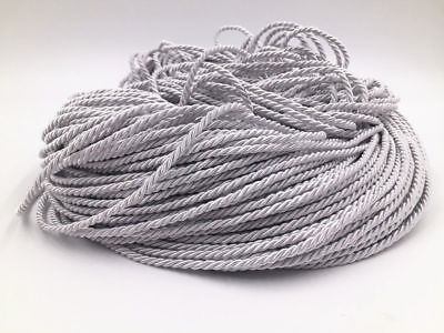 5-100m Metallic silver Twisted Cord Trim Rope Cord Trim 3mm